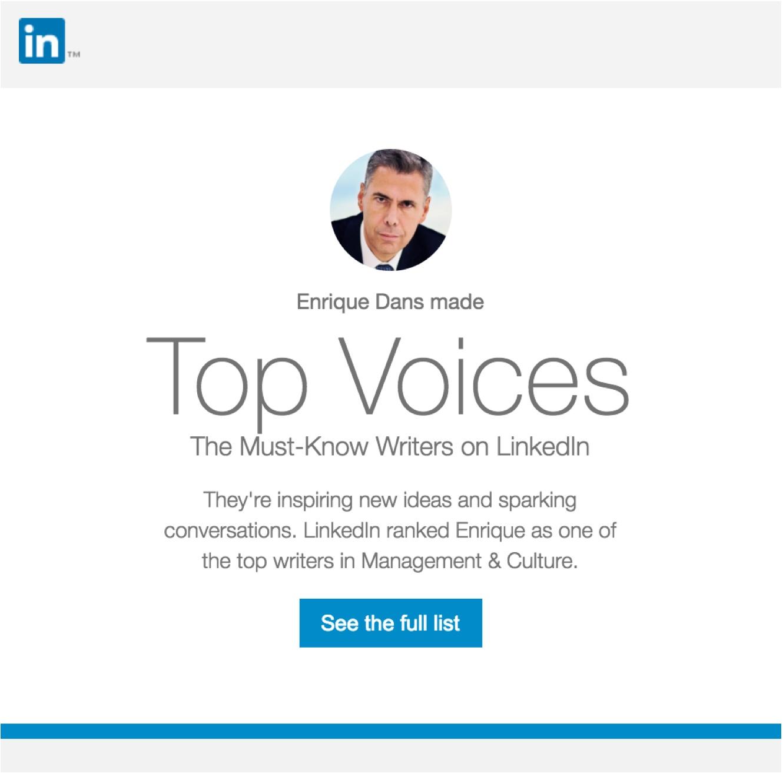 En los LinkedIn Top Voices de 2016 » Enrique Dans