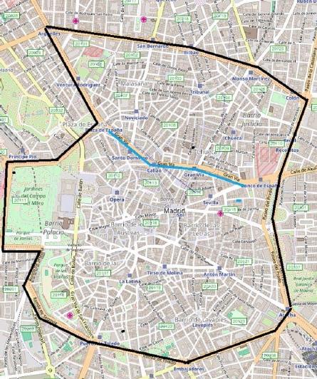 Plano medidas navidad - Ayuntamiento de Madrid