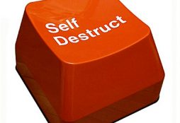 Self-destruction button
