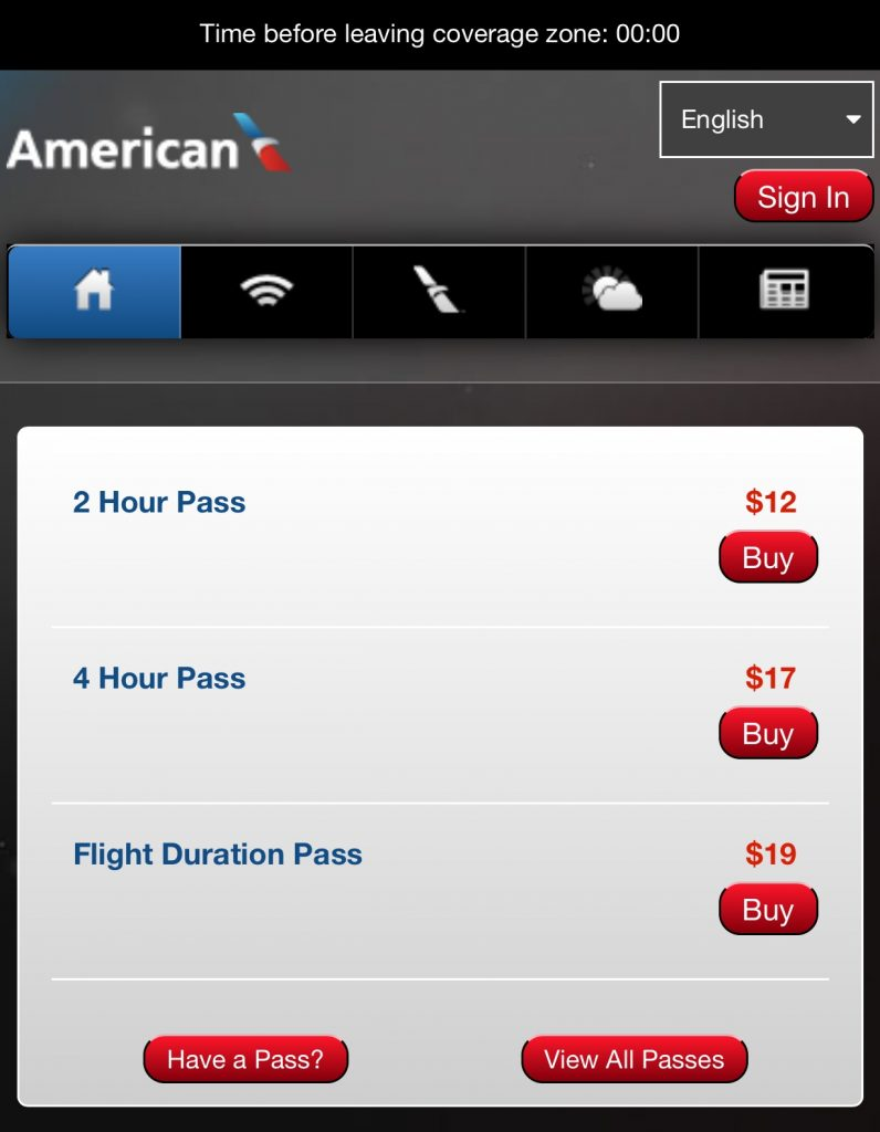 WiFi American Airlines