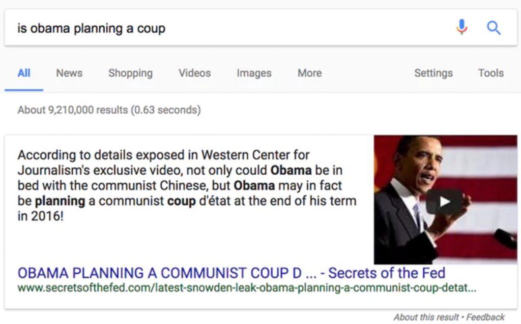 Fake Obama coup
