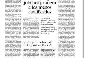 La tecnología jubilará primero a los menos cualificados - El País