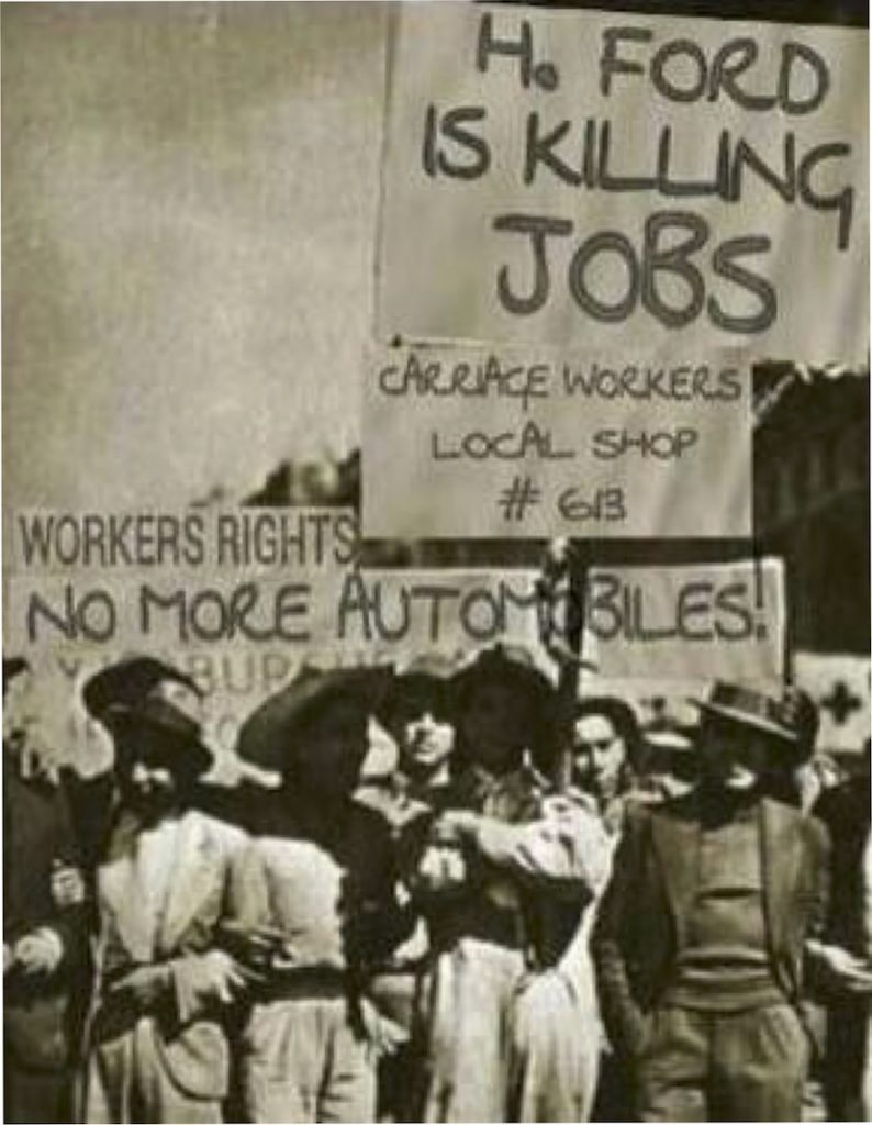 Henry Ford is killing jobs (IMAGE: Juan Carlos Arce - Twitter)