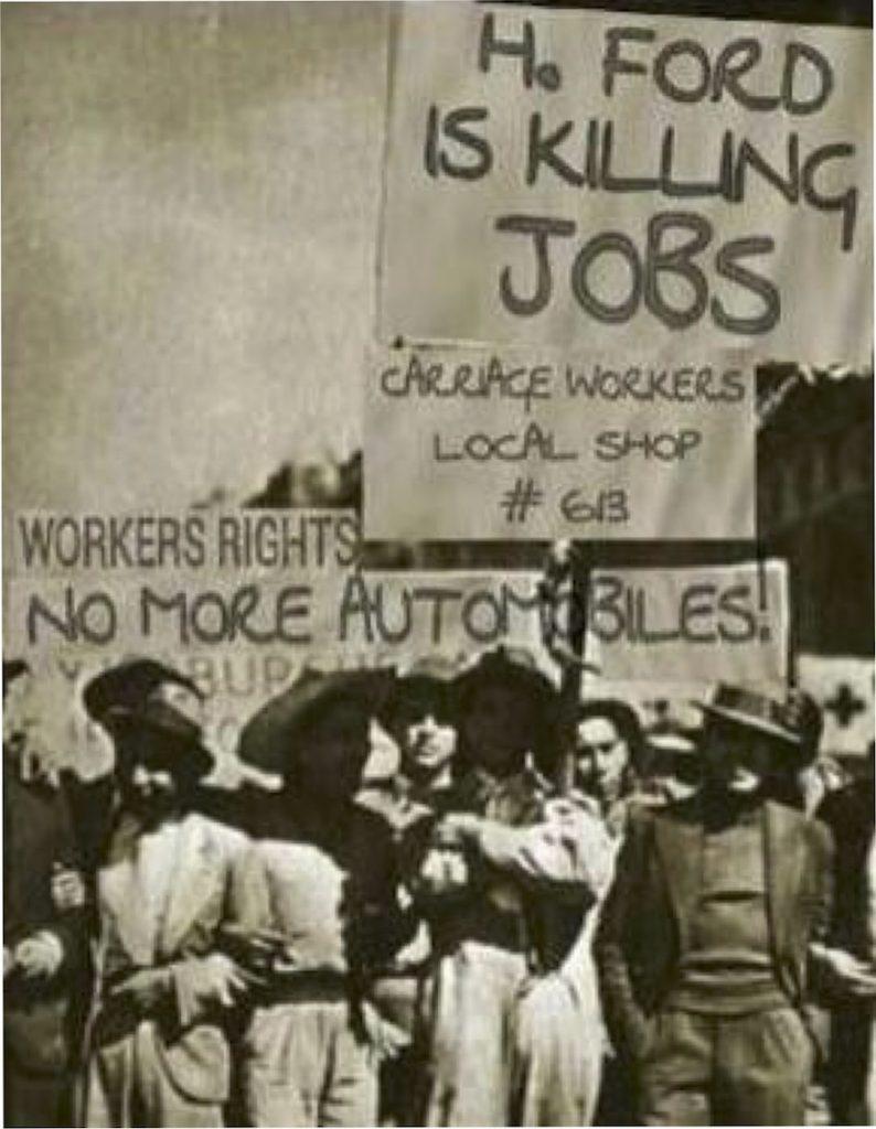Henry Ford is killing jobs (IMAGE: Juan Carlos Arce - Twitter)