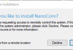 NanoCore installation