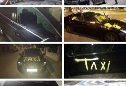 Huelga del taxi (IMÁGENES: El Español)