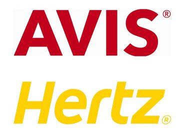 Avis and Hertz logos