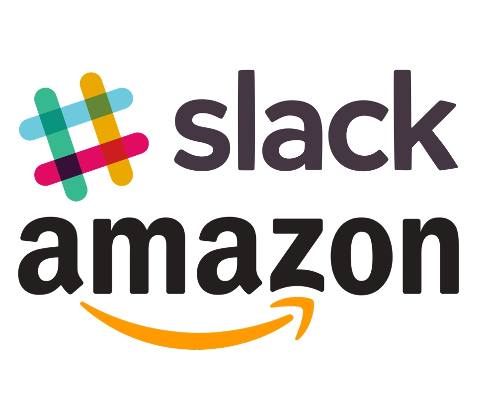 Slack and Amazon logos