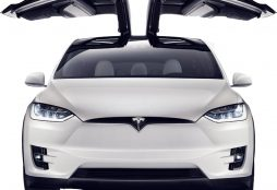 Tesla Model X (open wings)