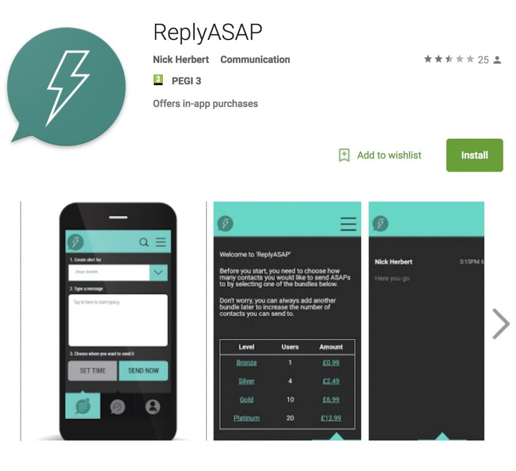 ReplyASAP - Android Play Market