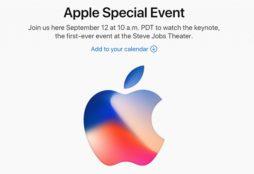 Apple invitation Sep. 12, 2017