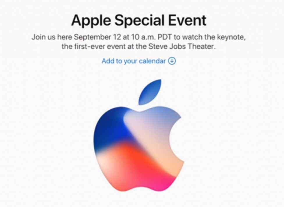 Apple invitation Sep. 12, 2017