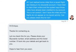 Emirates customer service on Twitter