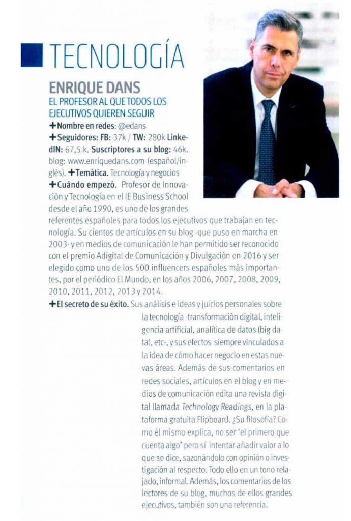 Perfil Enrique Dans - One Magazine