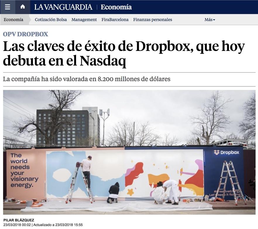 Las claves de éxito de Dropbox, que hoy debuta en el Nasdaq - La Vanguardia