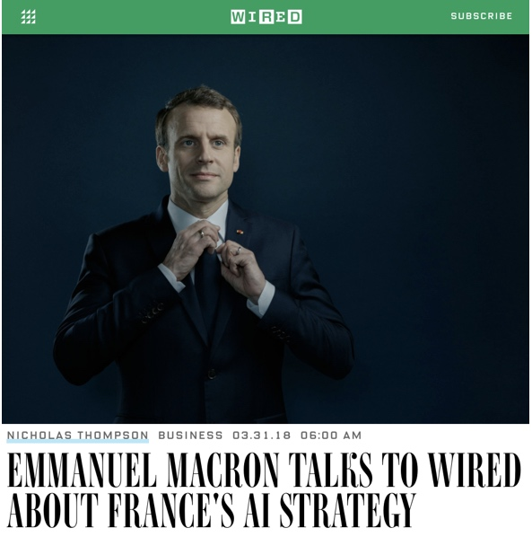 Emmanuel Macron Talks to WIRED About France's AI Strategy - Wired