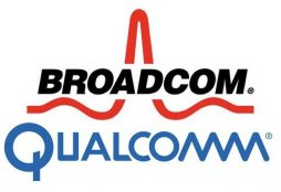 Broadcom and Qualcomm logos