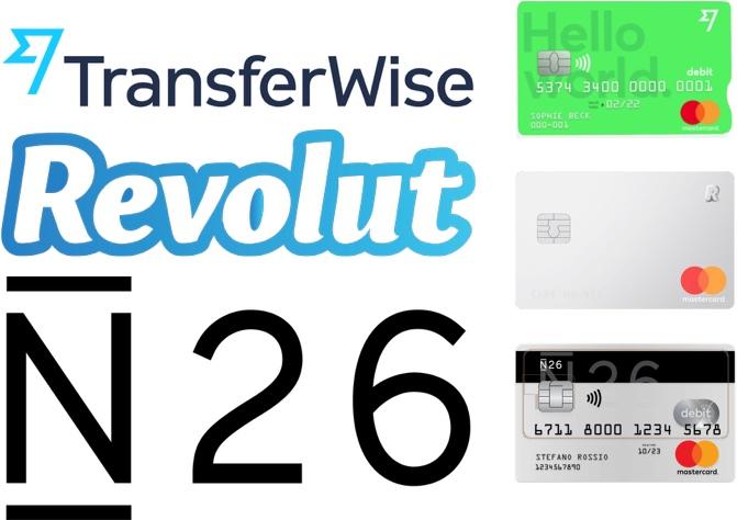 N26, Revolut, TransferWise