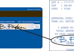 Signature credit card