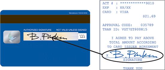 Signature credit card