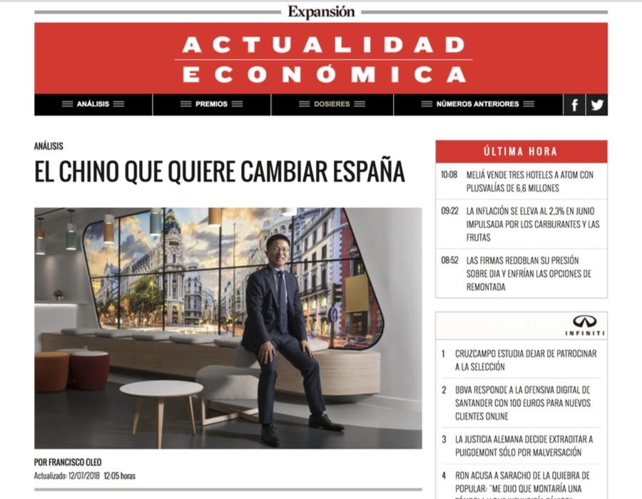 El chino que quiere cambiar España - Actualidad Económica