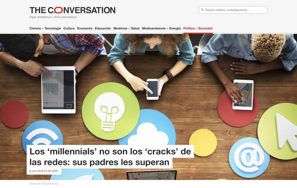 Los 'millennials' no son los 'cracks' de las redes: sus padres les superan - The Conversation