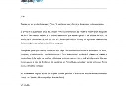 Amazon Prime price increase in Spain