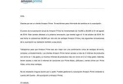 Amazon Prime price increase in Spain