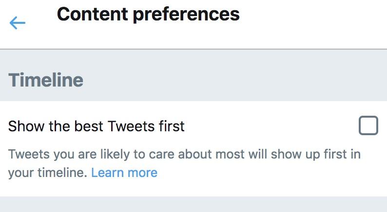 Twitter: chronological vs. algorithmic timeline