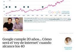 Google cumple 20 años - Cinco Días