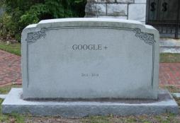 Google+ tombstone