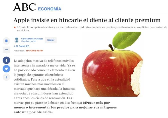 Apple insiste en hincarle el diente al cliente premium