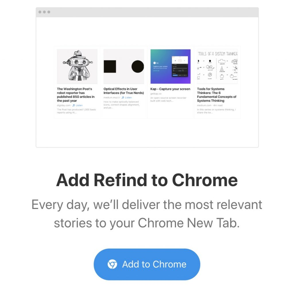 Add Refind to Chrome