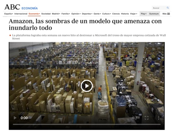 Amazon, las sombras de un modelo que amenaza con inundarlo todo - ABC