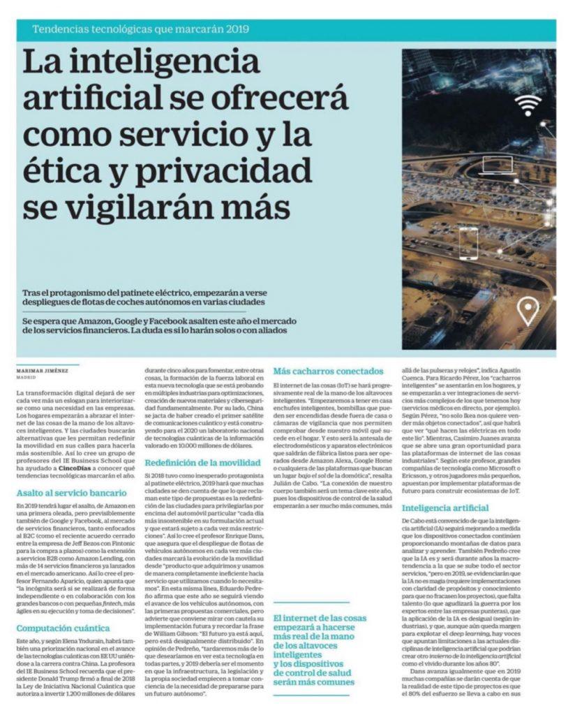 La inteligencia artificial se ofrecerá como servicio y la ética y privacidad se vigilarán más - Cinco Días
