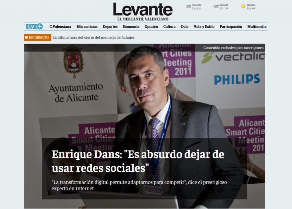 """""""Enrique Dans: es absurdo dejar de usar redes sociales"""" - Enrique Dans"""