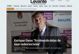 """""""Enrique Dans: es absurdo dejar de usar redes sociales"""" - Levante"""