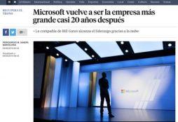 Microsoft vuelve a ser la empresa más grande casi 20 años después - La Vanguardia