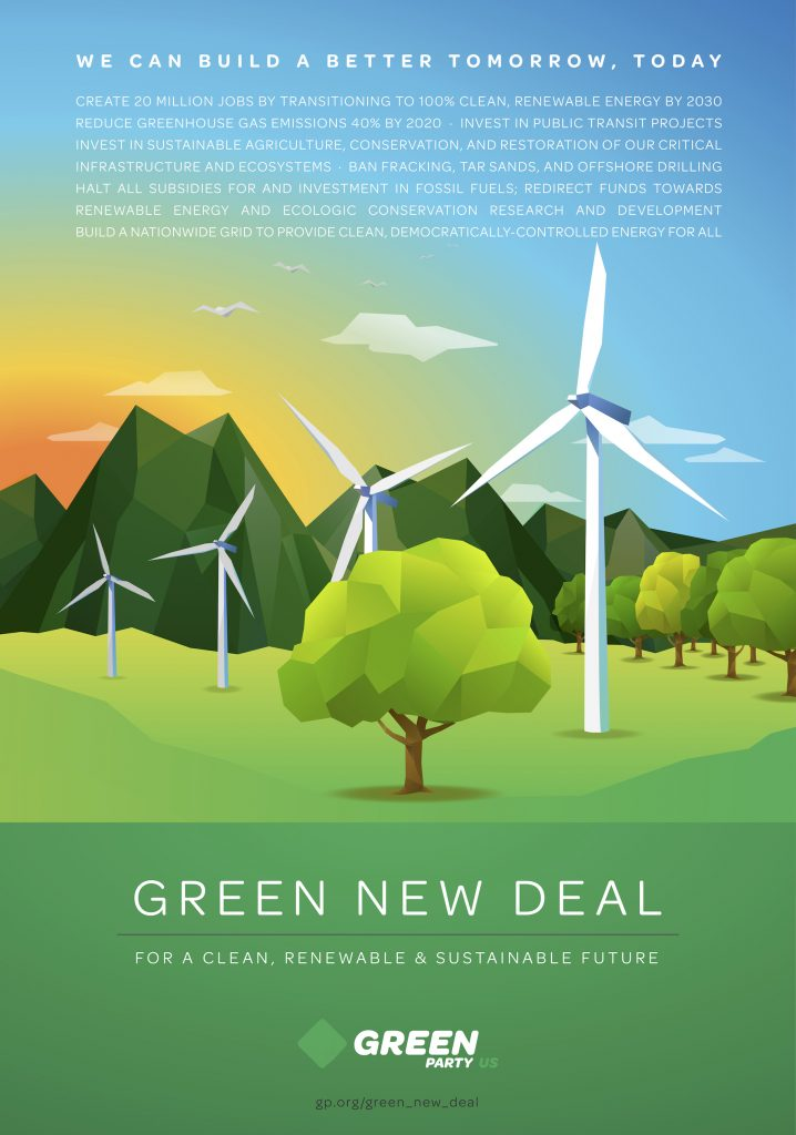 Green New Deal poster 2018