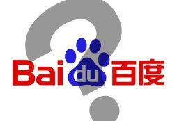 IMAGE: Baidu question mark