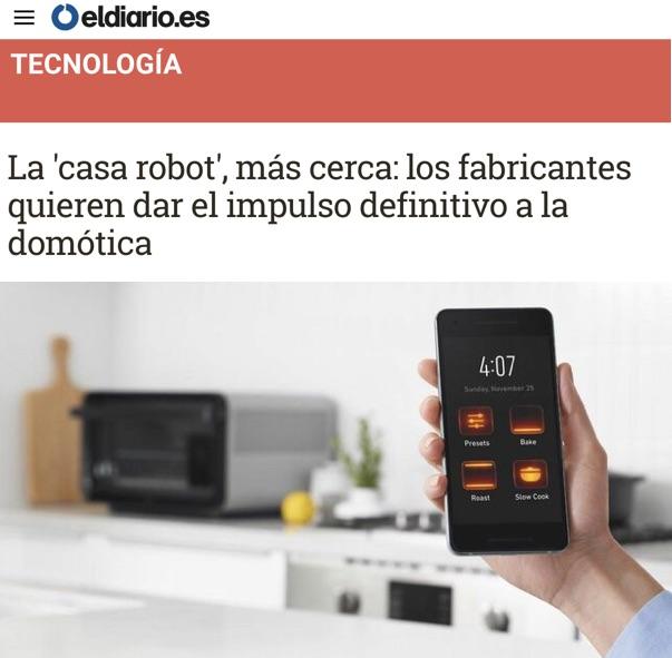 """La """"casa robot"""", más cerca: los fabricantes quieren dar el impulso definitivo a la domótica - El Diario.es"""