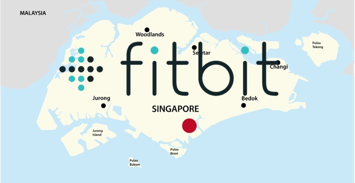 IMAGE: Singapore map and Fitbit logo