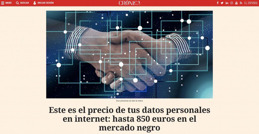 IMAGE: Este es el precio de tus datos personales en internet: hasta 850 euros en el mercado negro - Crónica Global