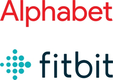 IMAGE: Alphabet and Fitbit logos