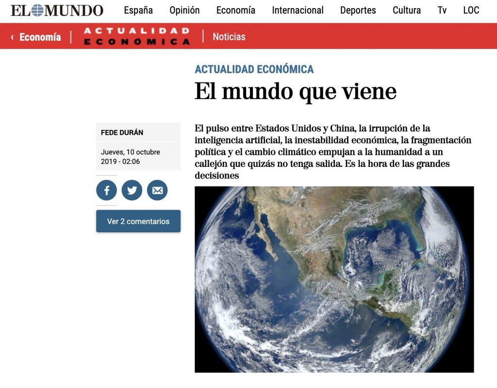 IMAGE: El mundo que viene - Actualidad Económica