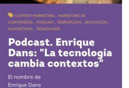 """Enrique Dans: """"La tecnología cambia contextos"""" - La Vaca MU"""