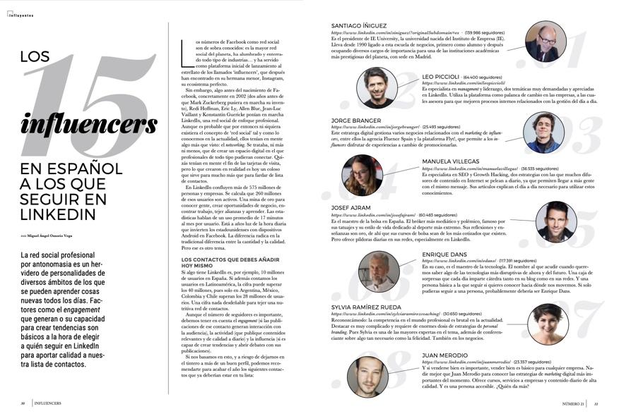 Los 15 influencers en español a los que seguir en LinkedIn - Influencers