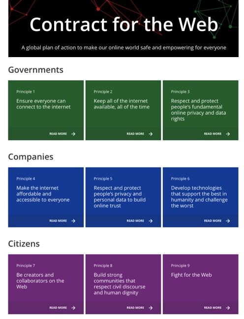 Resultat d'imatges de ContractForTheWeb.org