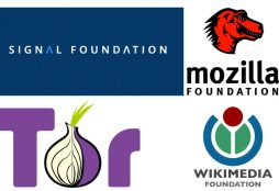 IMAGE: Signal Foundation, Mozilla Foundation, Tor Project and Wikimedia Foundation logos