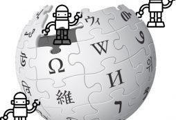 IMAGE: Wikipedia logo and bots (CC0)